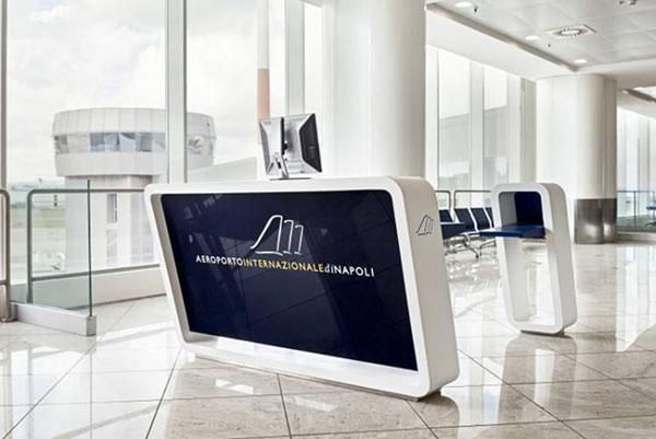 کورین ال جی پذیرش و سرویس بهداشتی فرودگاه بین المللی ناپل/ایتالیا