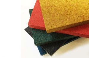 ام دی اف رنگی قرمز و آبی و سبز و مشکی و زرد