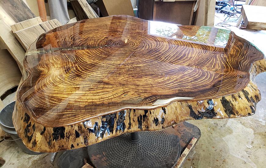 صفحه چوب طبیعی با رزین اپوکسی