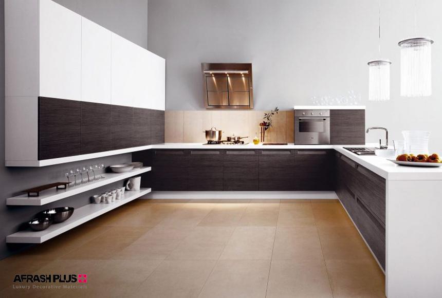 آشپزخانه مدرن با پلان U