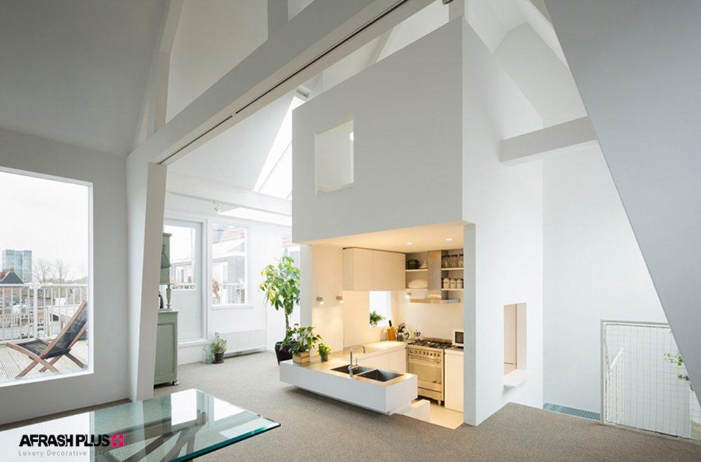 آشپزخانه مینیمال و خلاقانه مدرن