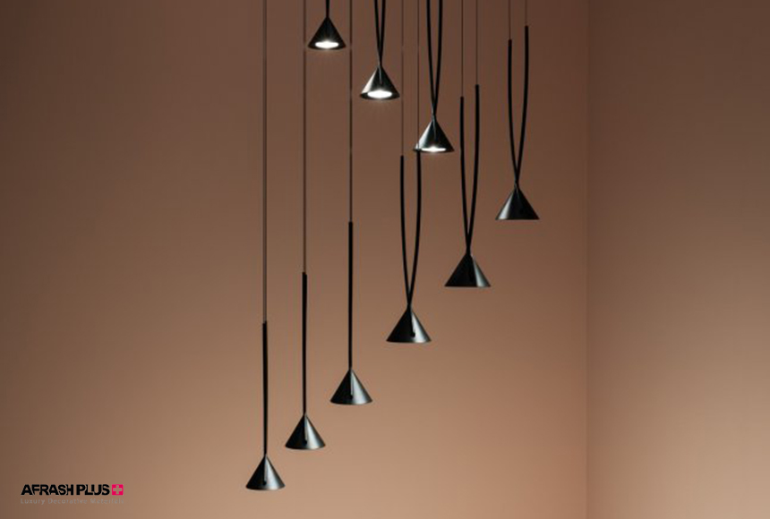 لامپ آویز لوکس آلومینیومی چندتایی