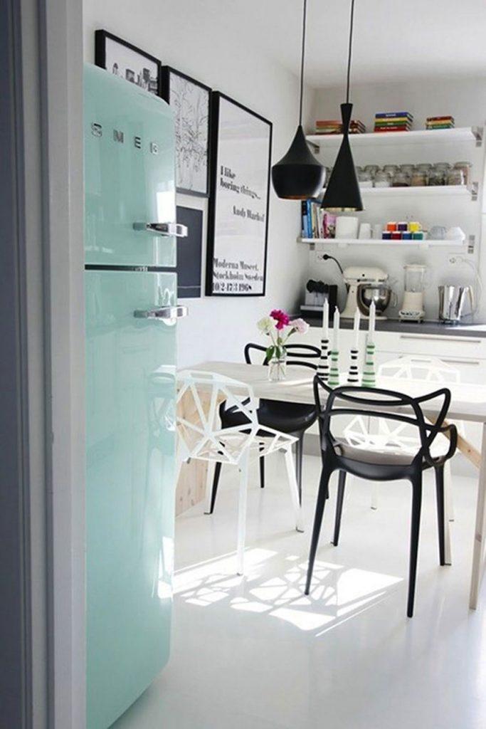 آشپزخانه ایی ساده با سبک رترو