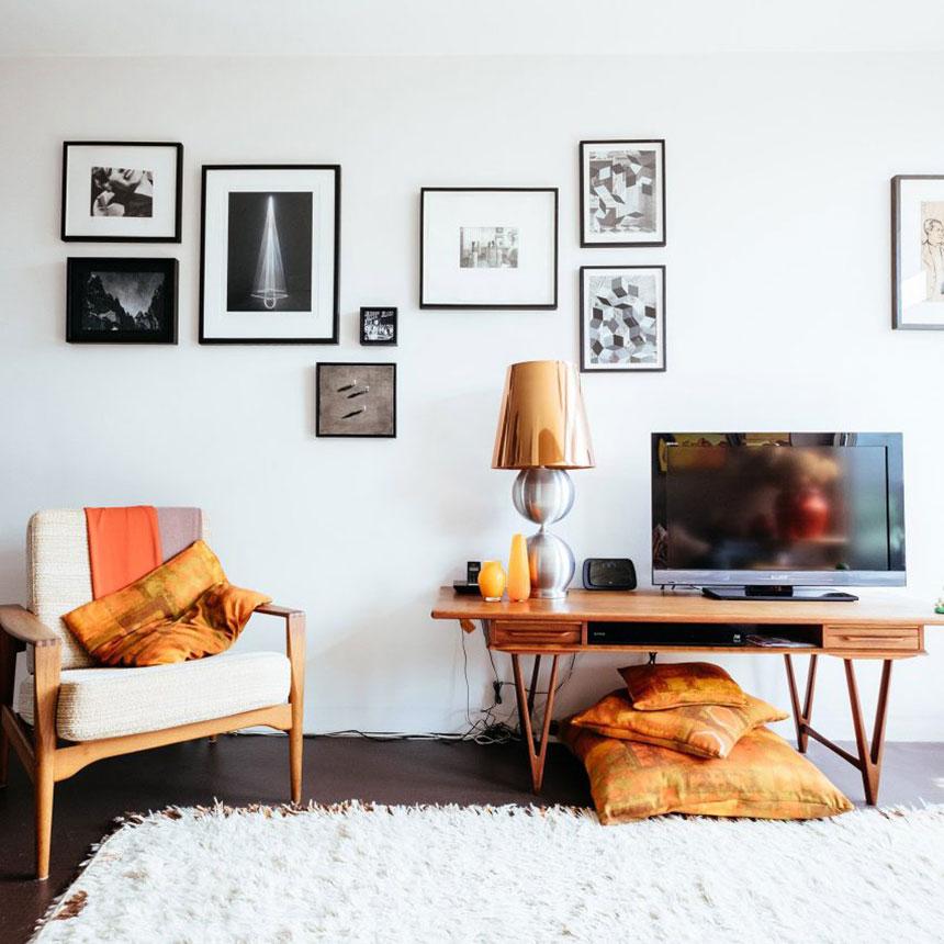 6 ایده جذاب دیگر در سبک رترو: دیزاینی با رنگ بندی شاد و روشن که فضا را دلباز و پر انرژی می کند