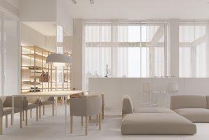 زندگی به سبک مینیمال با حداقل جزئیات و اکسسوری ترکیب شده با دیوار های سفید و نور طبیعی