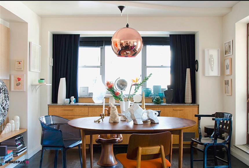 غذاخوری سبک انتخابی با میز و صندلی تمام چوب
