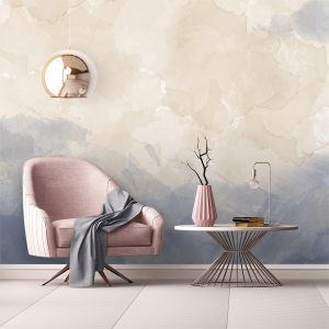 کاغذ دیواری با رنگ بندی زیبا و ملایم