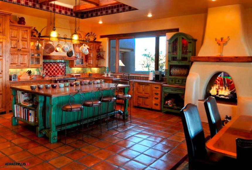 آشپزخانه در سبک جنوب غرب آمریکا