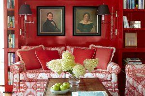 دکوراسیون کلاسیک با تم رنگ قرمز