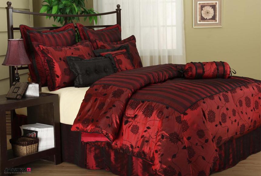 تخت خواب رمانتیک رنگ قرمز