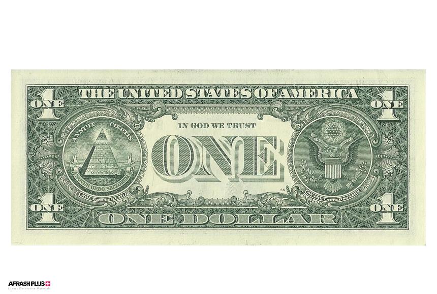 اسکناس یک دلاری با رنگ سبز