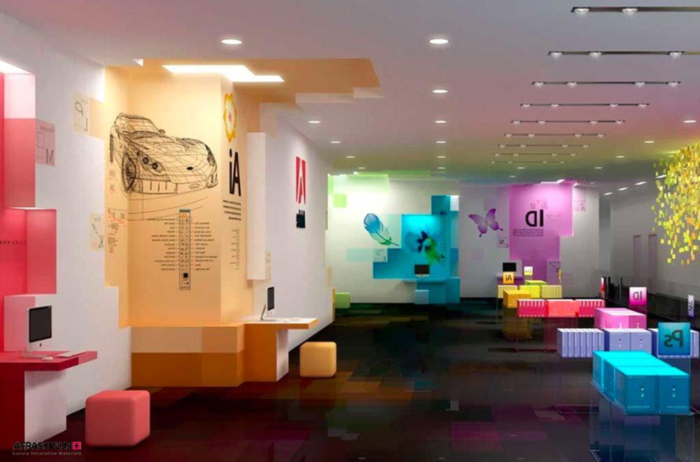 رنگبندی خلاقانه در شوروم شرکت Adobe