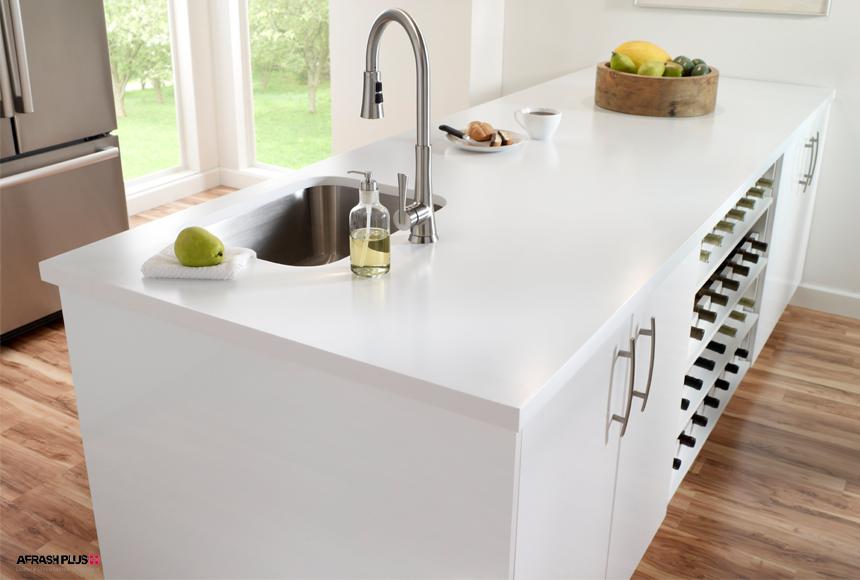 جزیره آشپزخانه با کورین سفید