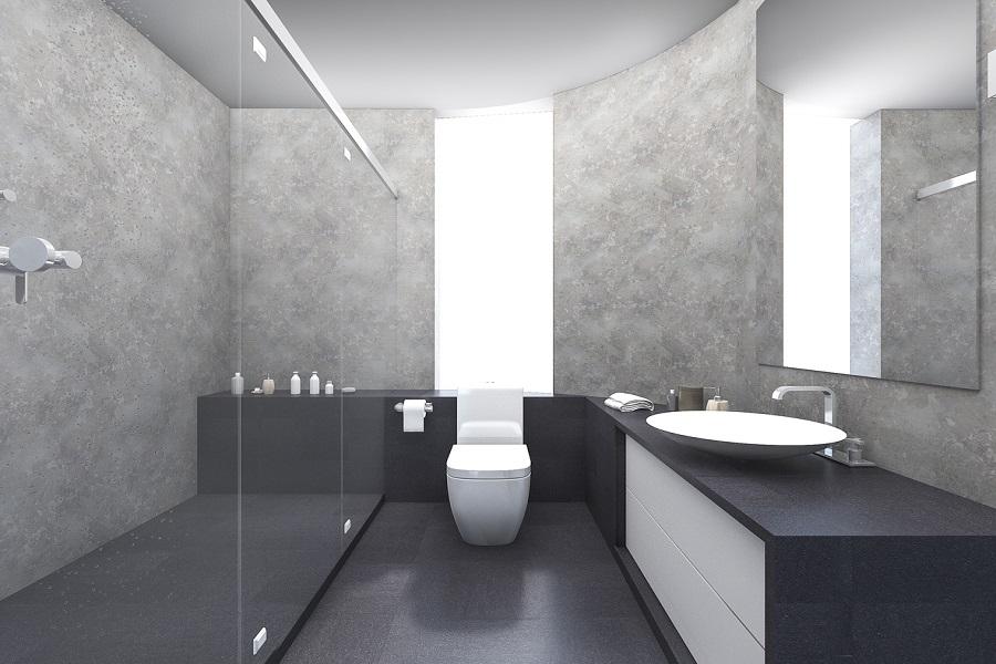 دیوارپوش ضد آب در سرویس بهداشتی