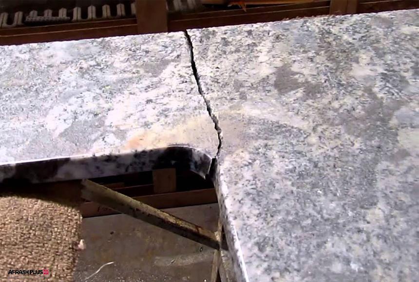 شکستن سنگ طبیعی صفحه کابینت