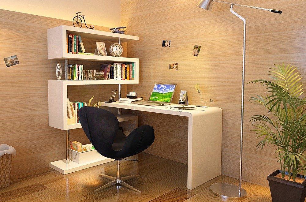 محیط کاری کوچک در خانه