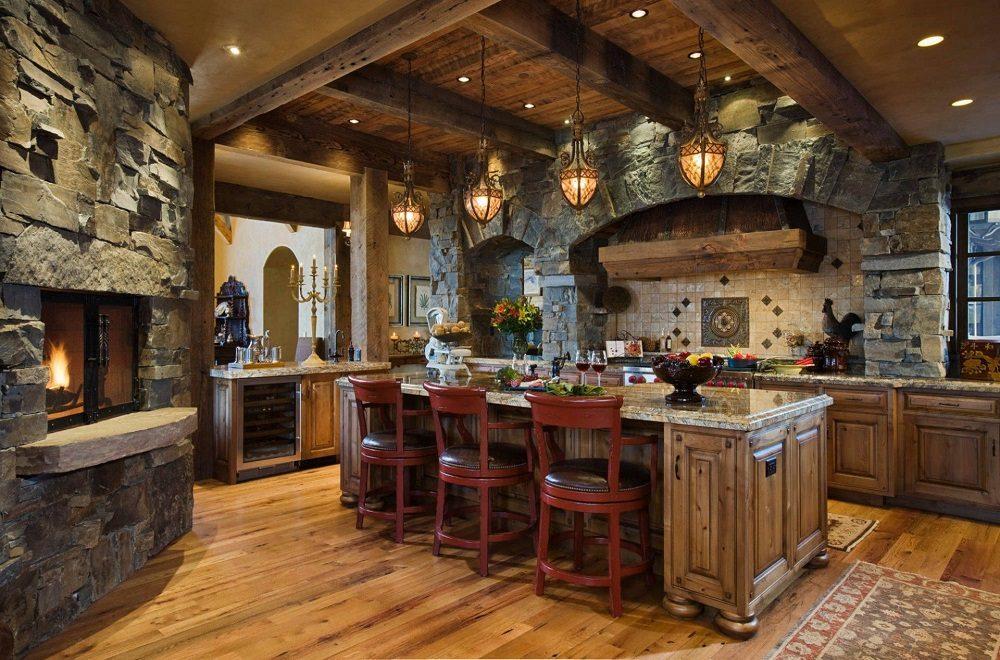 دکور منزل با استفاده از سنگ و چوب طبیعی