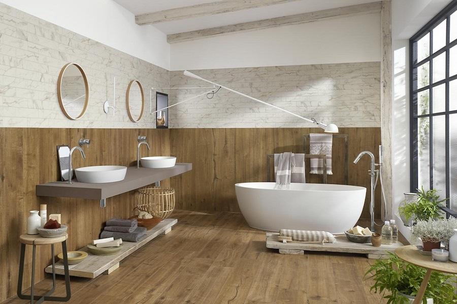 استفاده از پنل های چوبی در دکوراسیون حمام