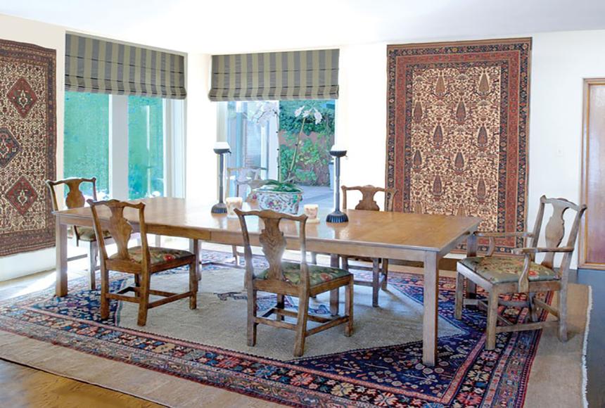 تزئین دکوراسیون با قالیچه