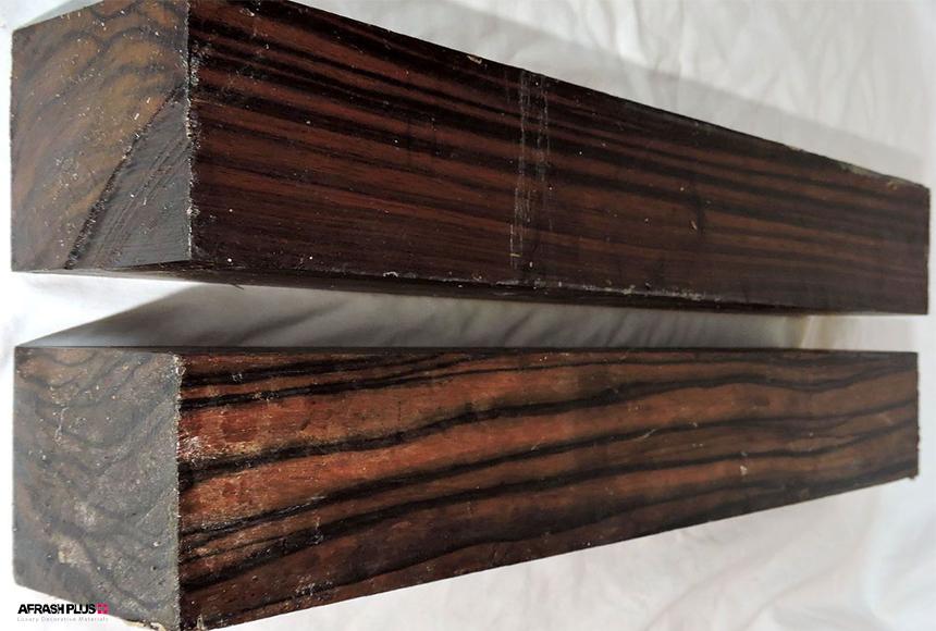 دو عدد الوار چوب آبنوس