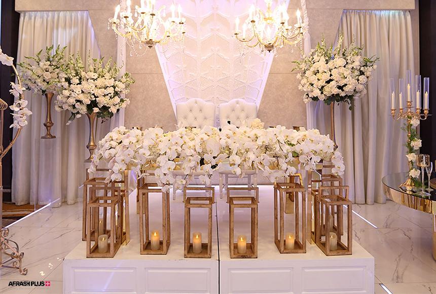 جایگاه عروس و داماد در دکوراسیون تالار پذیرایی