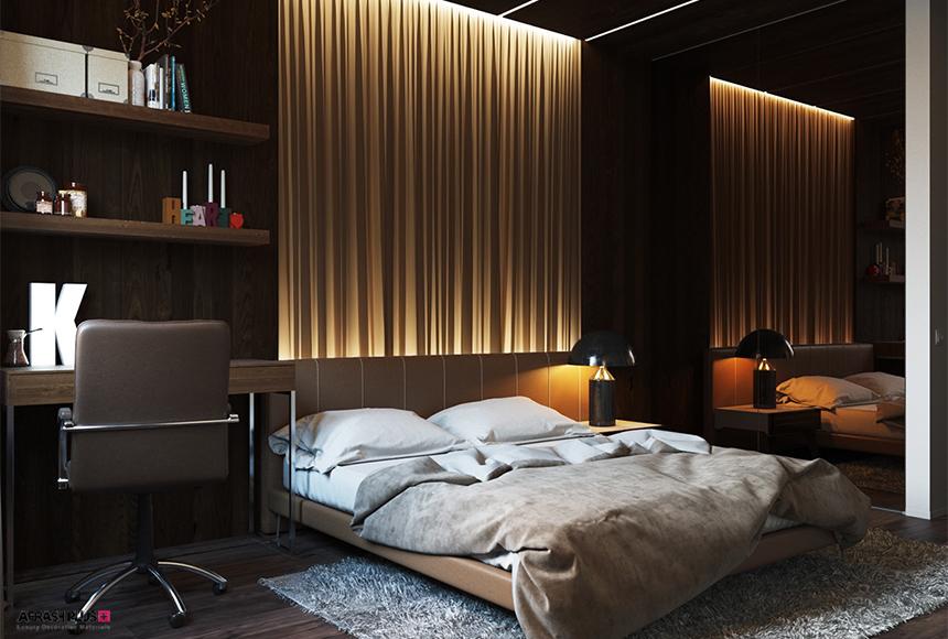 نورپردازی در دکوراسیون داخلی در اتاق خواب
