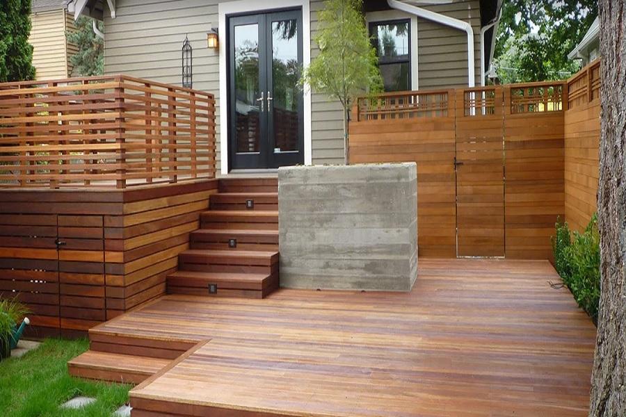استفاده از نمای ترکیبی سنگ و چوب در نماسازی مدرن: