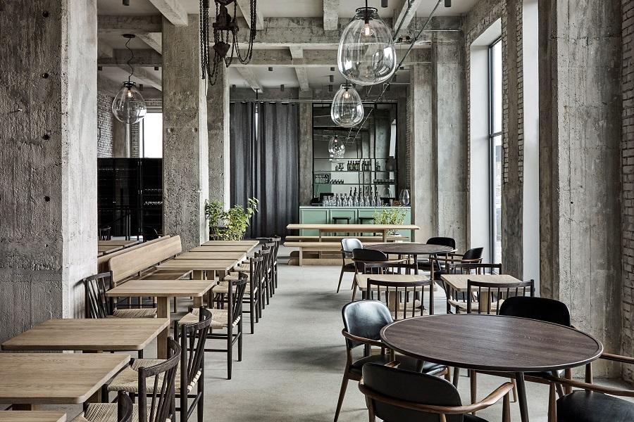 دکوراسیون رستوران با سبک صنعتی