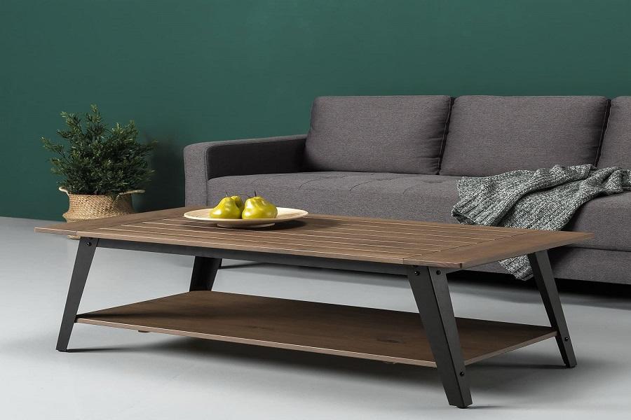 میز با چوب و فلز