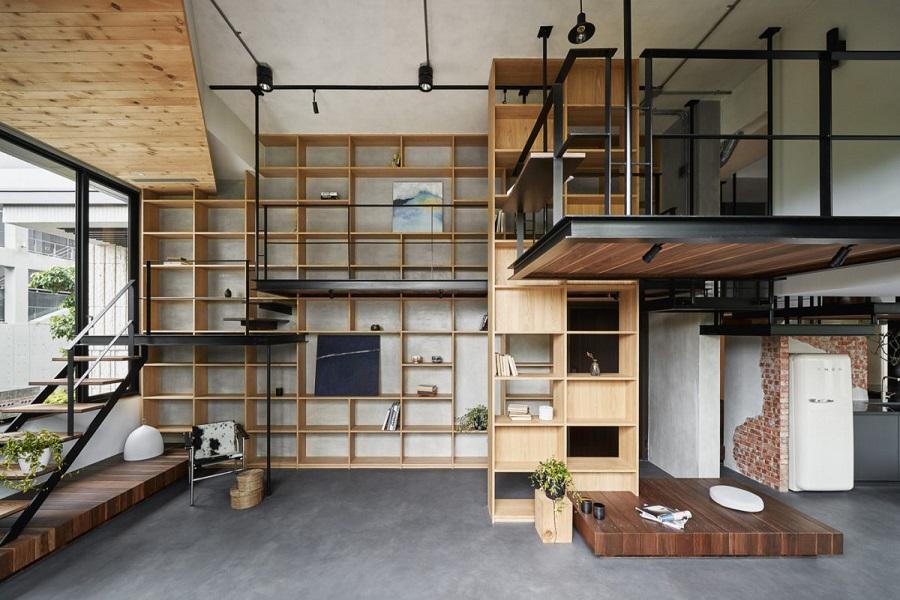 دکوراسیون مدرن چوب و فلز